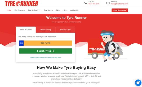Tyre Runner website image